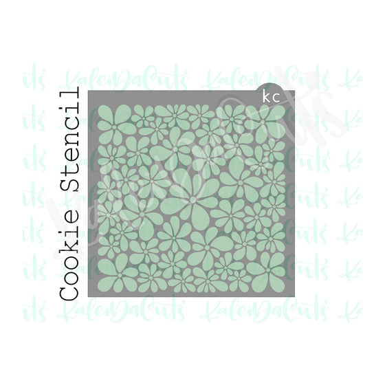 Whimsy Flower Pattern Stencil