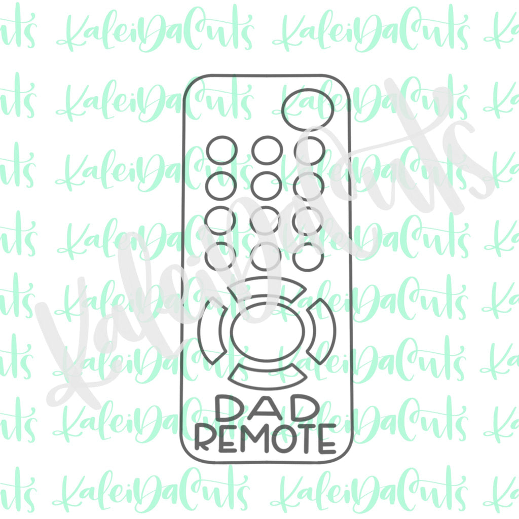 Dad Remote Cookie Cutter