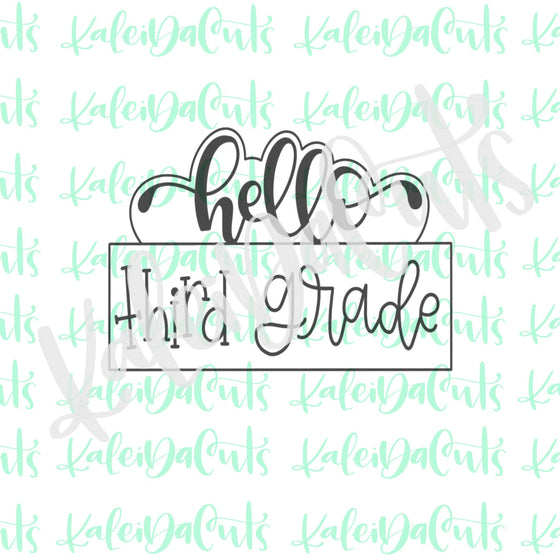 Hello Plaque 2 Cookie Cutter