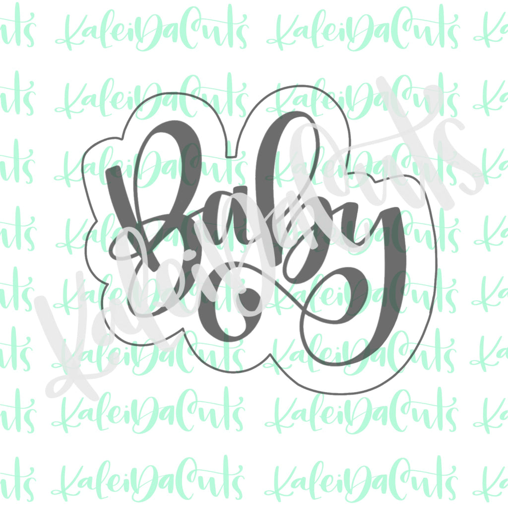 Baby Hand-lettering 2 Plaque Cookie Cutter