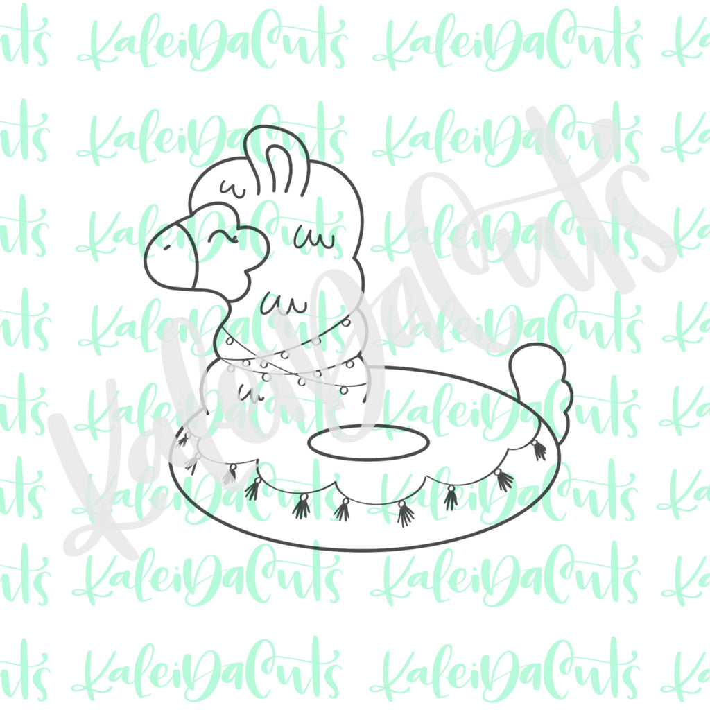 Llama Pool Float Cookie Cutter