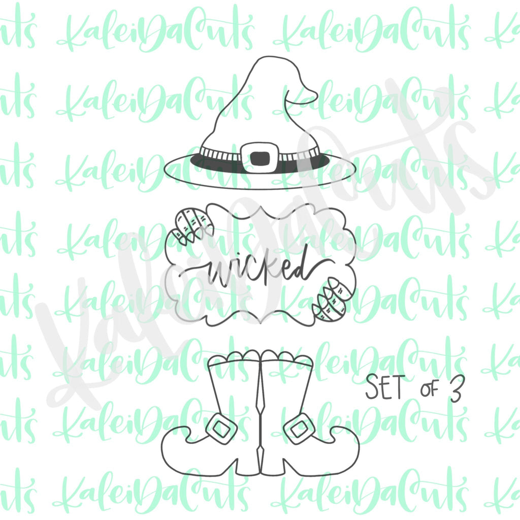 Witch Set of 3 Cookie Cutters