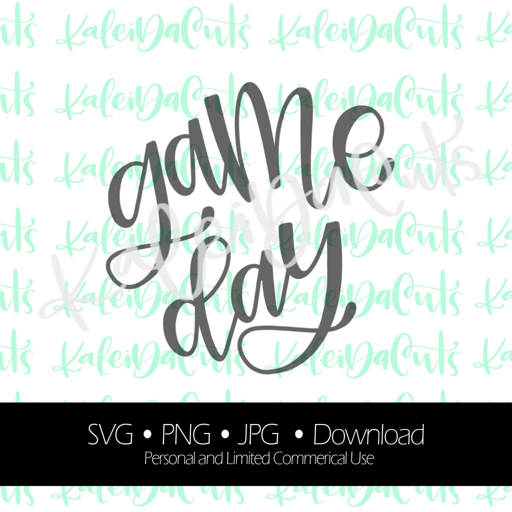 Game Day Lettering - Digital Download.