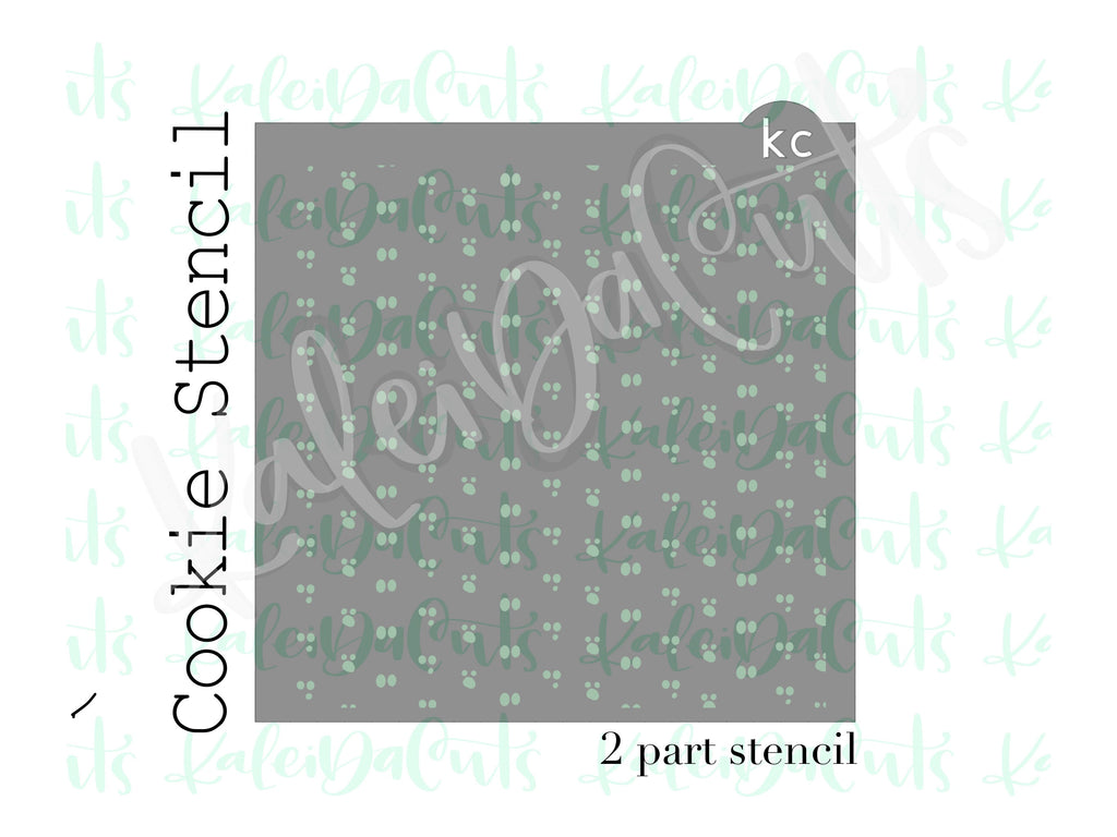 2 Part Ghosts Pattern Stencil - Discounted