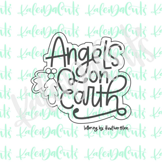 Angels on Earth Lettering Cookie Cutter