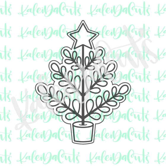 Leafy Christmas Tree Cookie Cutter