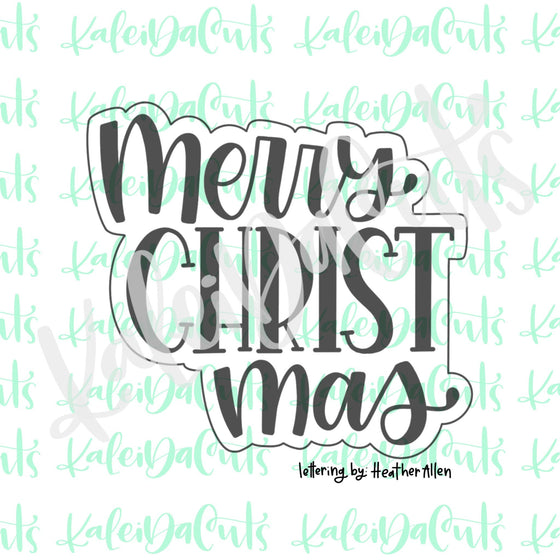 Merry Christ Mas Lettering Cookie Cutter