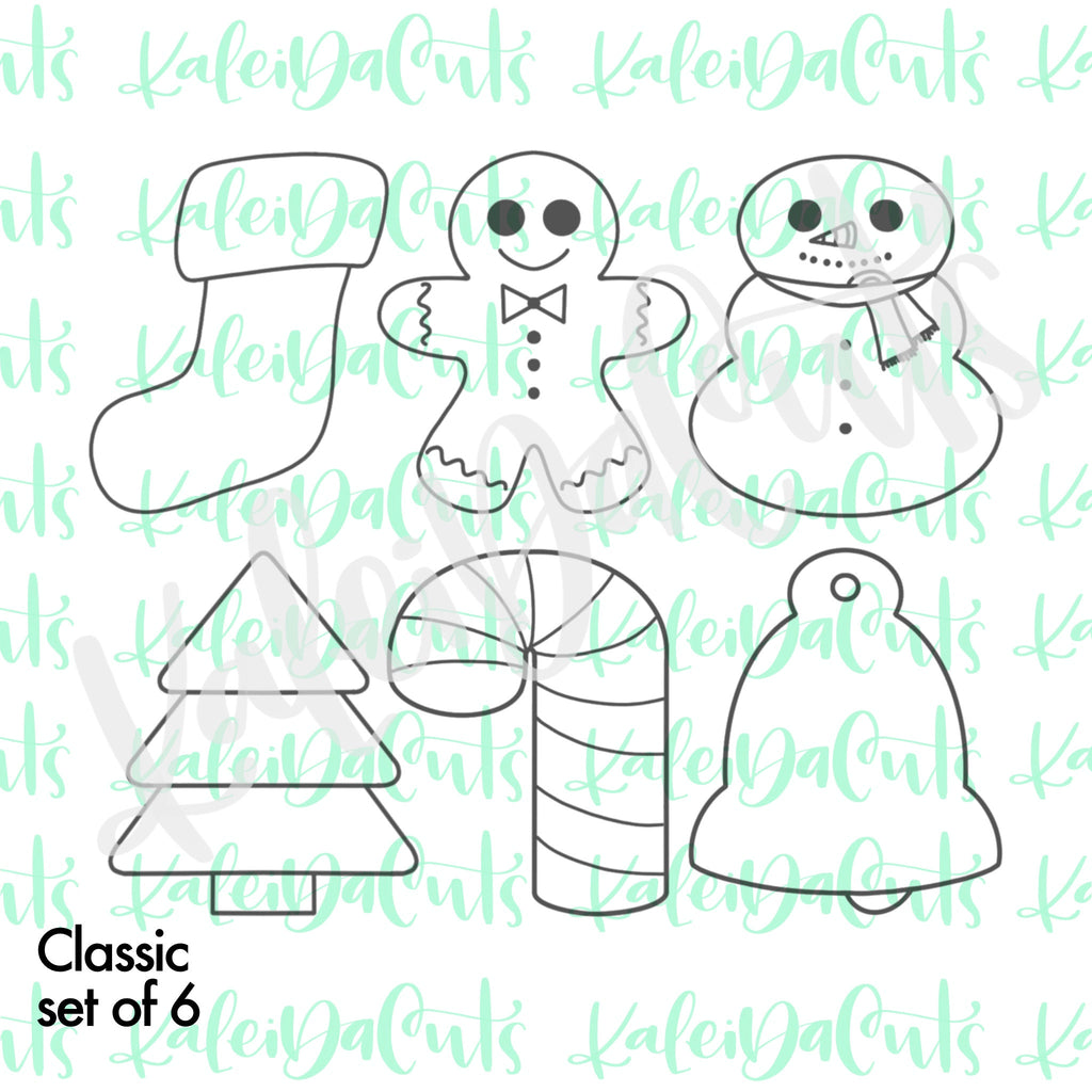 Mini Classic Christmas Set - 6 Cookie Cutters