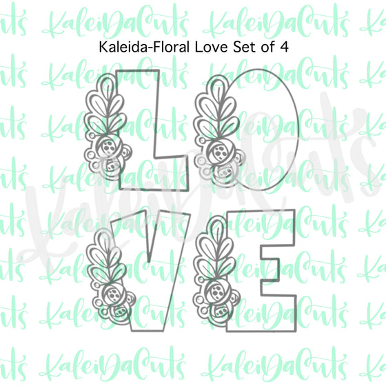 Kaleida-Floral Love Cookie Cutter Set of 4