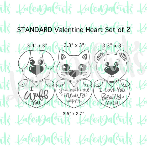 Standard Valentine Heart Set - Build Your Own Character