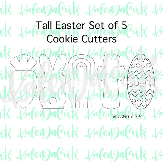 Tall Easter Set of 5 Cookie Cutters