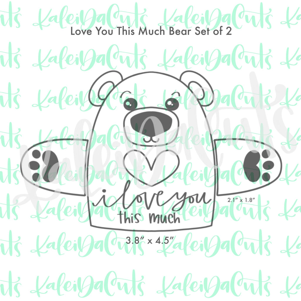 Love You This Much - Set of 2 Cookie Cutters