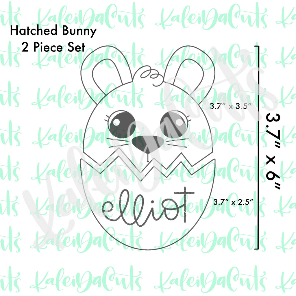 Hatched Bunny Set Cookie Cutter