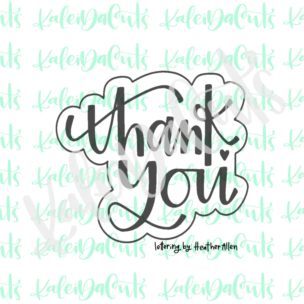 Thank You 2 Lettering Cookie Cutter