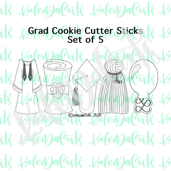 Grad Stick Cookie Cutters Set of 5