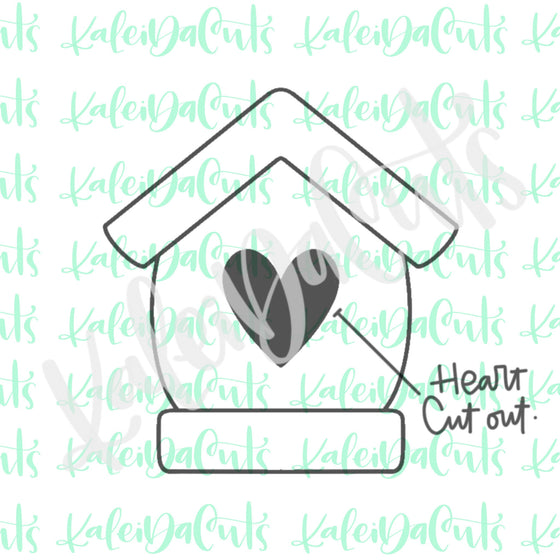 Birdhouse Heart Cutout Cookie Cutter