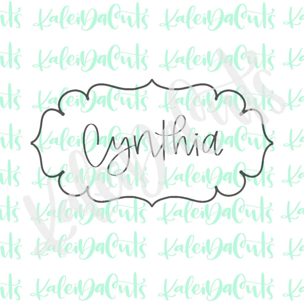 Cynthia Plaque Cookie Cutter