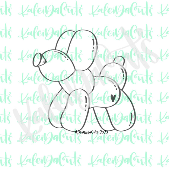 Balloon Animal Dog Cookie Cutter