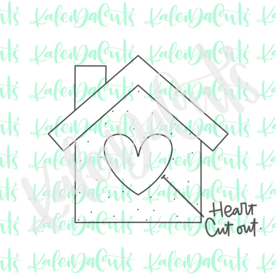 Home Heart Cutout Cookie Cutter