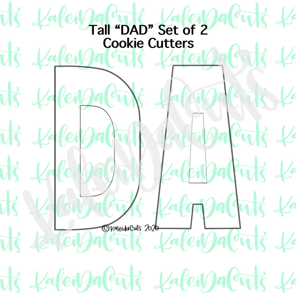 Tall Dad Set of 2 Cookie Cutters