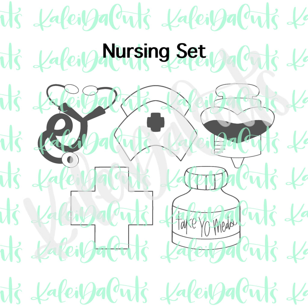 Nursing Set of 5 Cookie Cutters