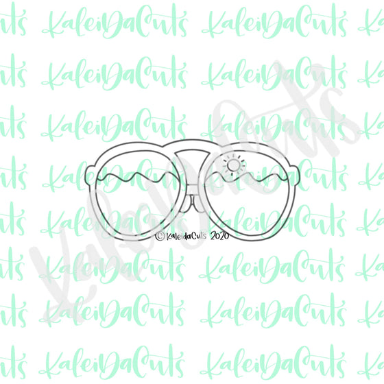 Tall Aviator Sunglasses Cookie Cutter