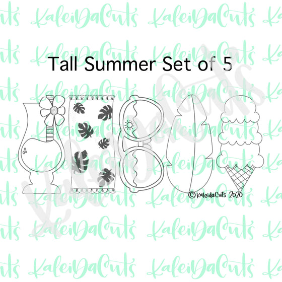 Tall Summer Cookie Cutters Set of 5