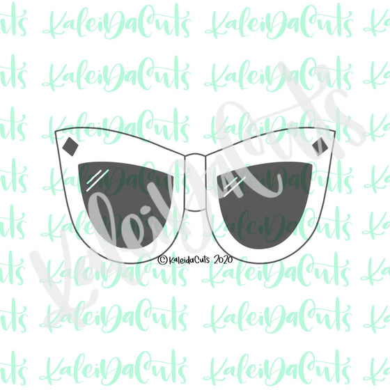 Cat Eye Sunnies Cookie Cutter