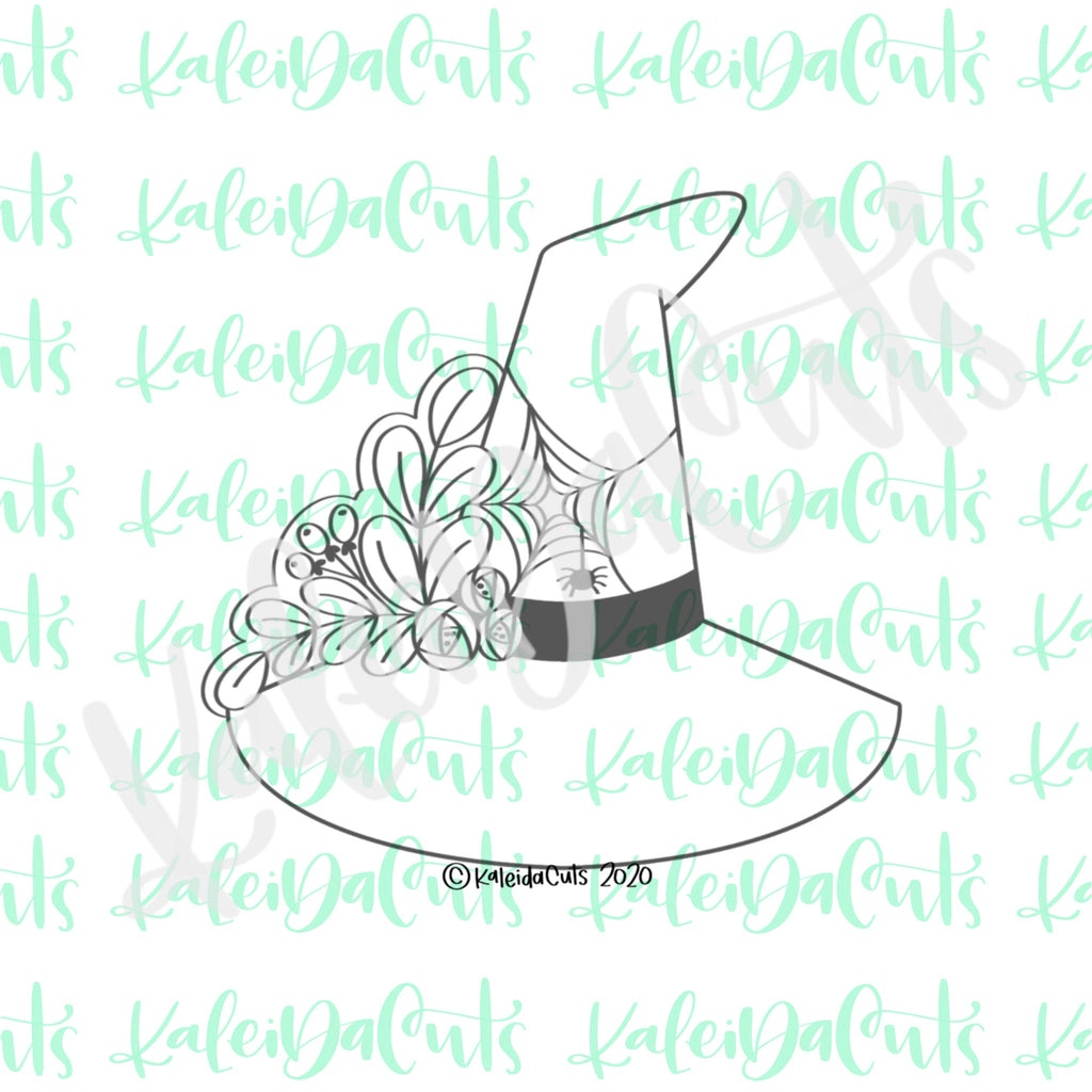 Floral Witch Hat Cookie Cutter