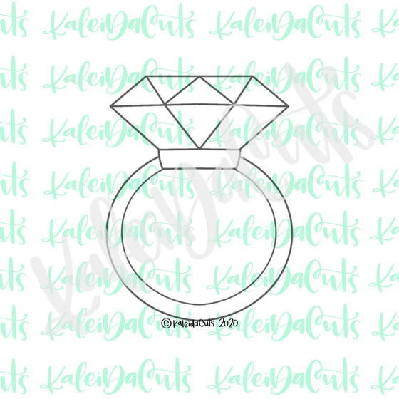 Diamond Ring 2 Cookie Cutter