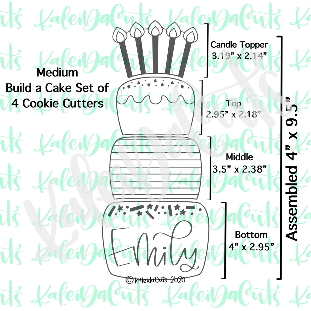 Build a Cake Set of 6 Cookie Cutters