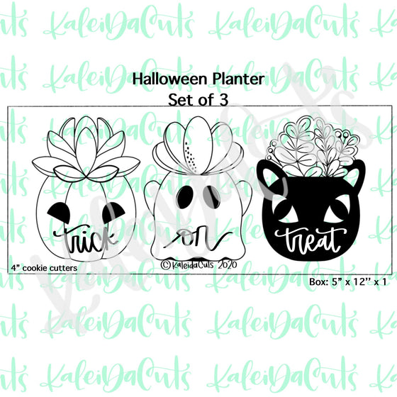 Halloween Planter Set of 3 Cookie Cutters