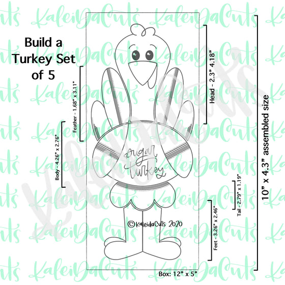 Build a Turkey Set of 5 Cookie Cutters