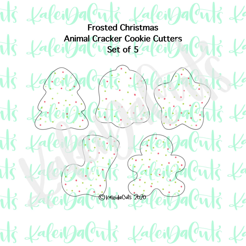 Christmas Frosted Animal Cracker Cookie Cutter Set of 5