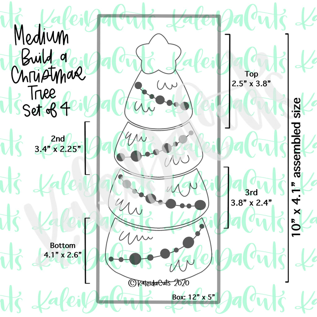 Build a Christmas Tree Set - 4 Cookie Cutters