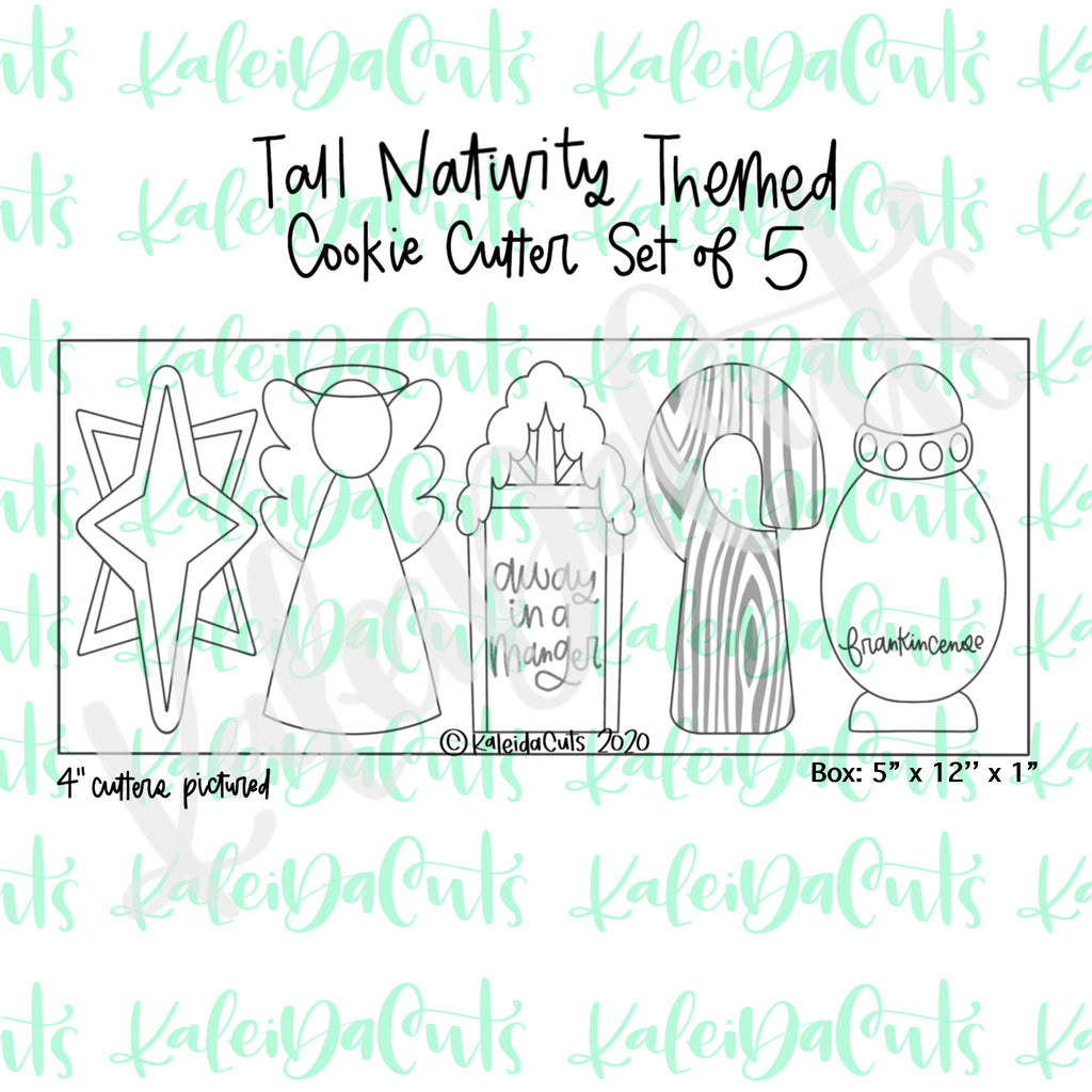 Nativity Tall Set Cookie Cutters Set of 5