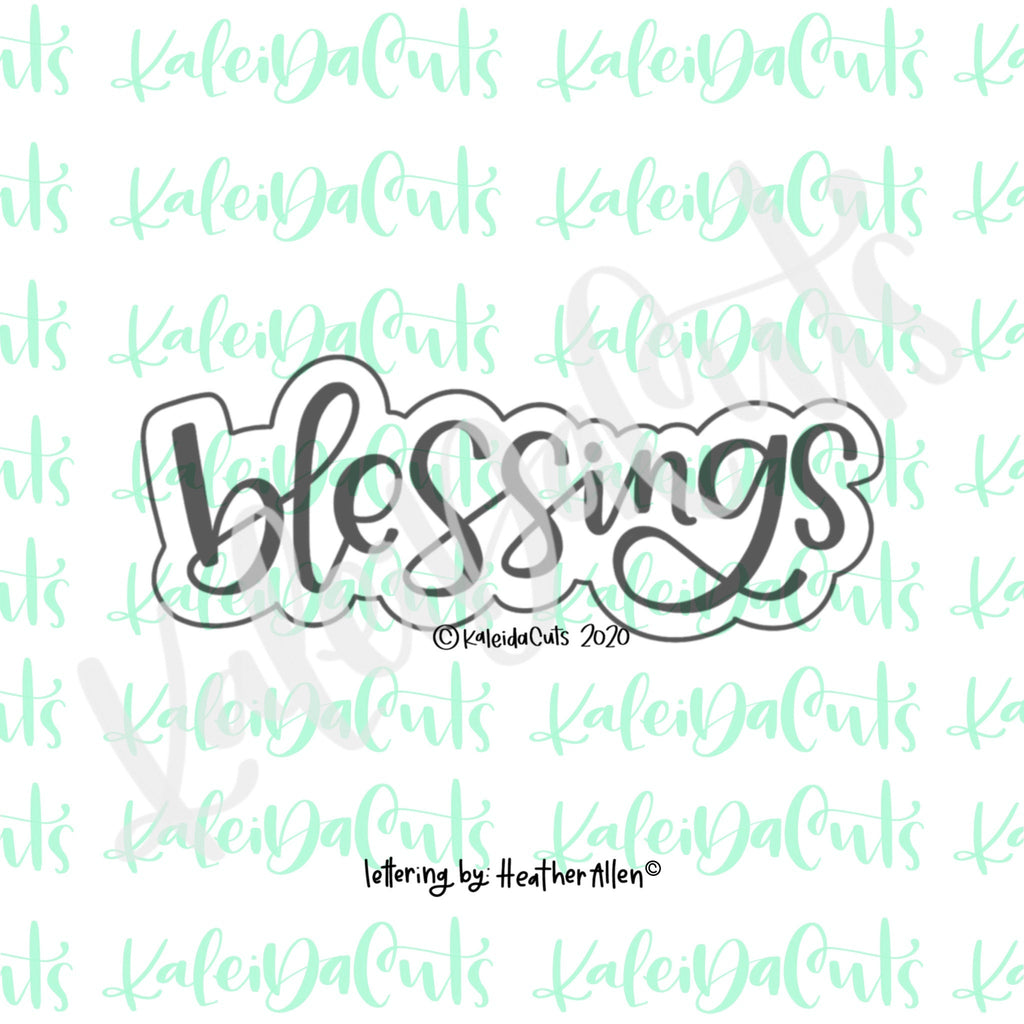 Blessings Lettering Cookie Cutter