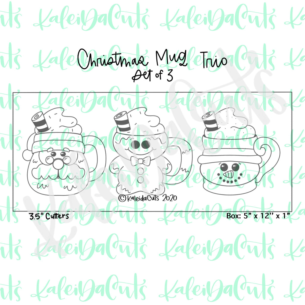 Christmas Mug Trio Cookie Cutter Set of 3