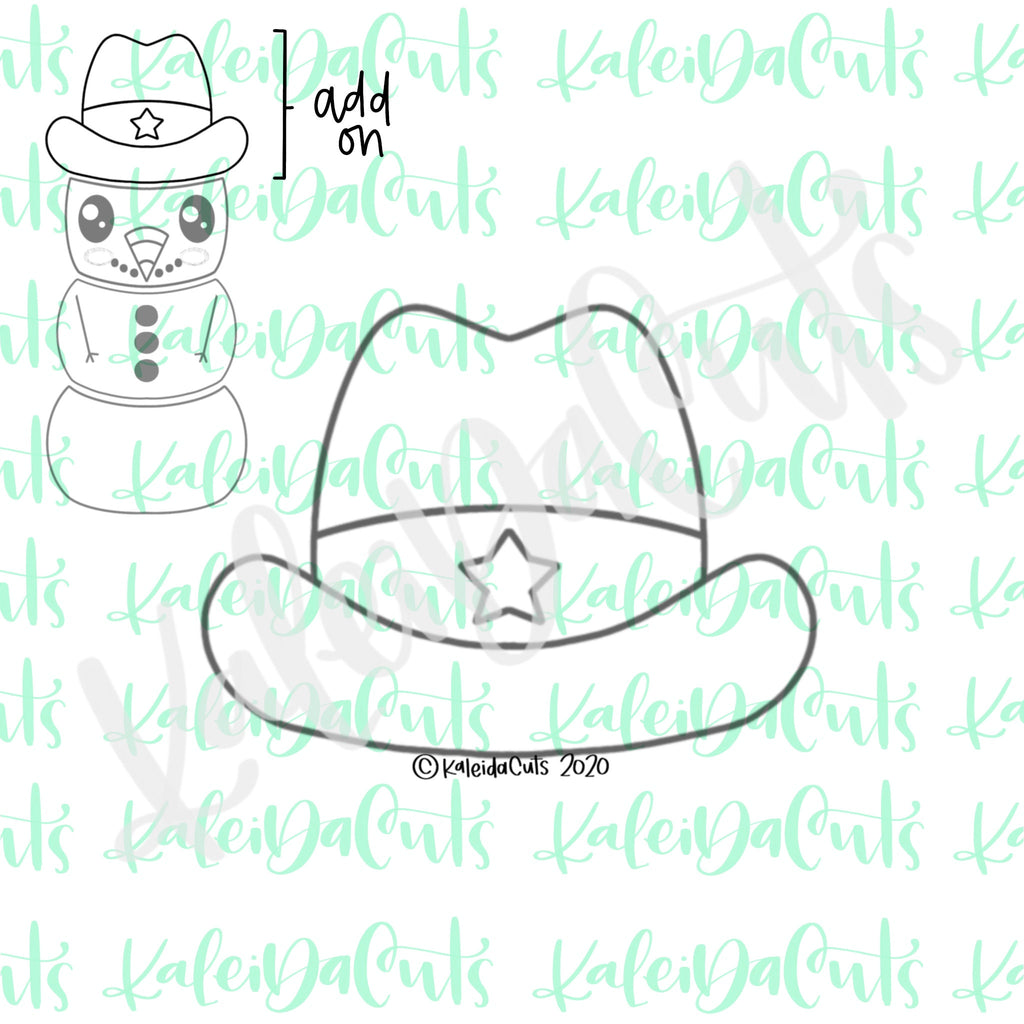 Cowboy Hat Addon Cookie Cutter