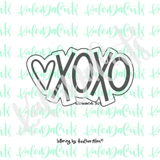 XoXo with Heart Cookie Cutter