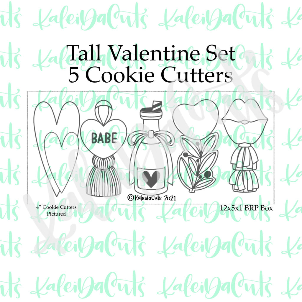 Tall Valentine Cookie Cutters Set of 5