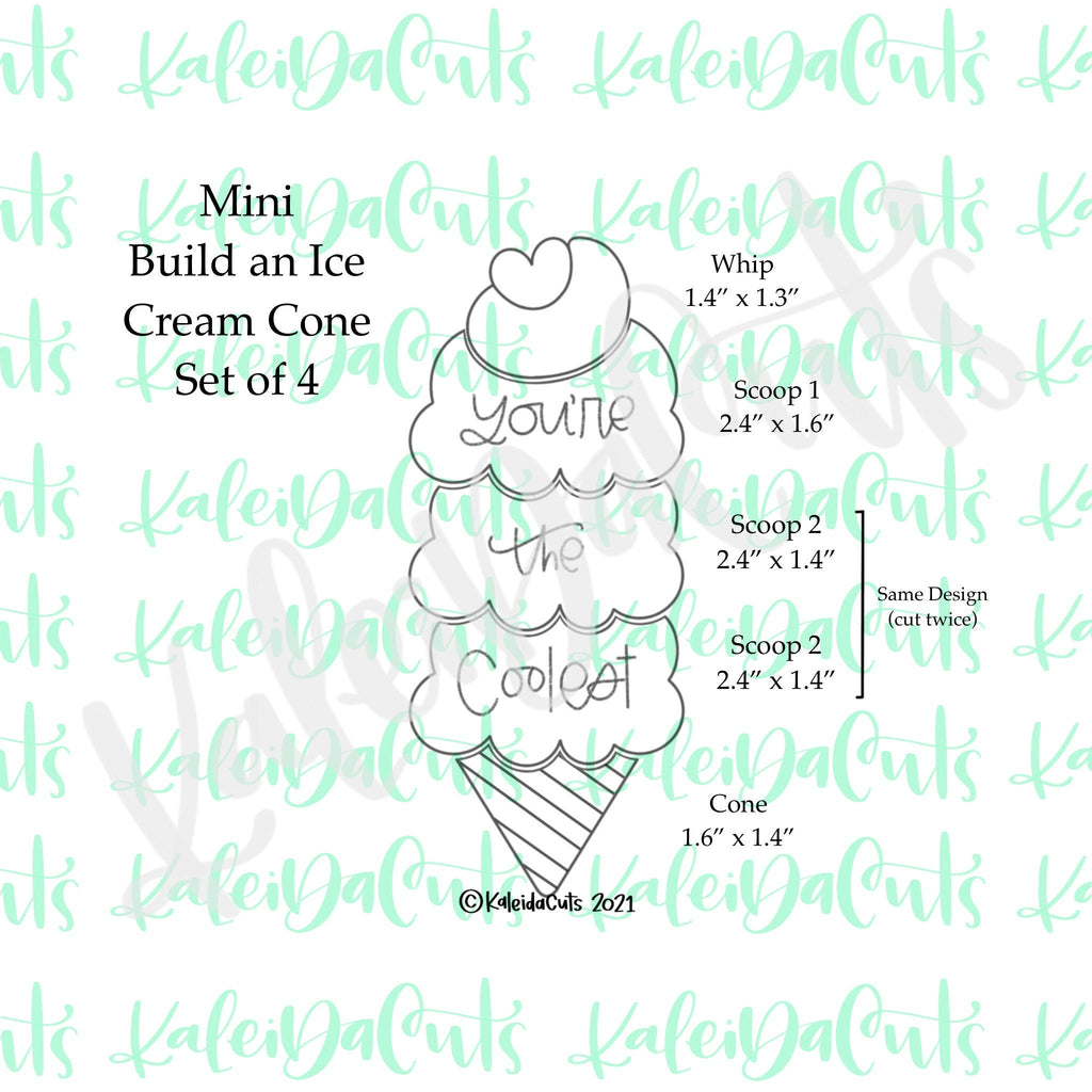 Mini Build an Ice Cream Cookie Cutter - Set of 4