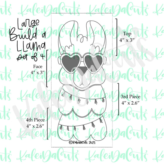 Large Build a Llama Cookie Cutter - Set of 4