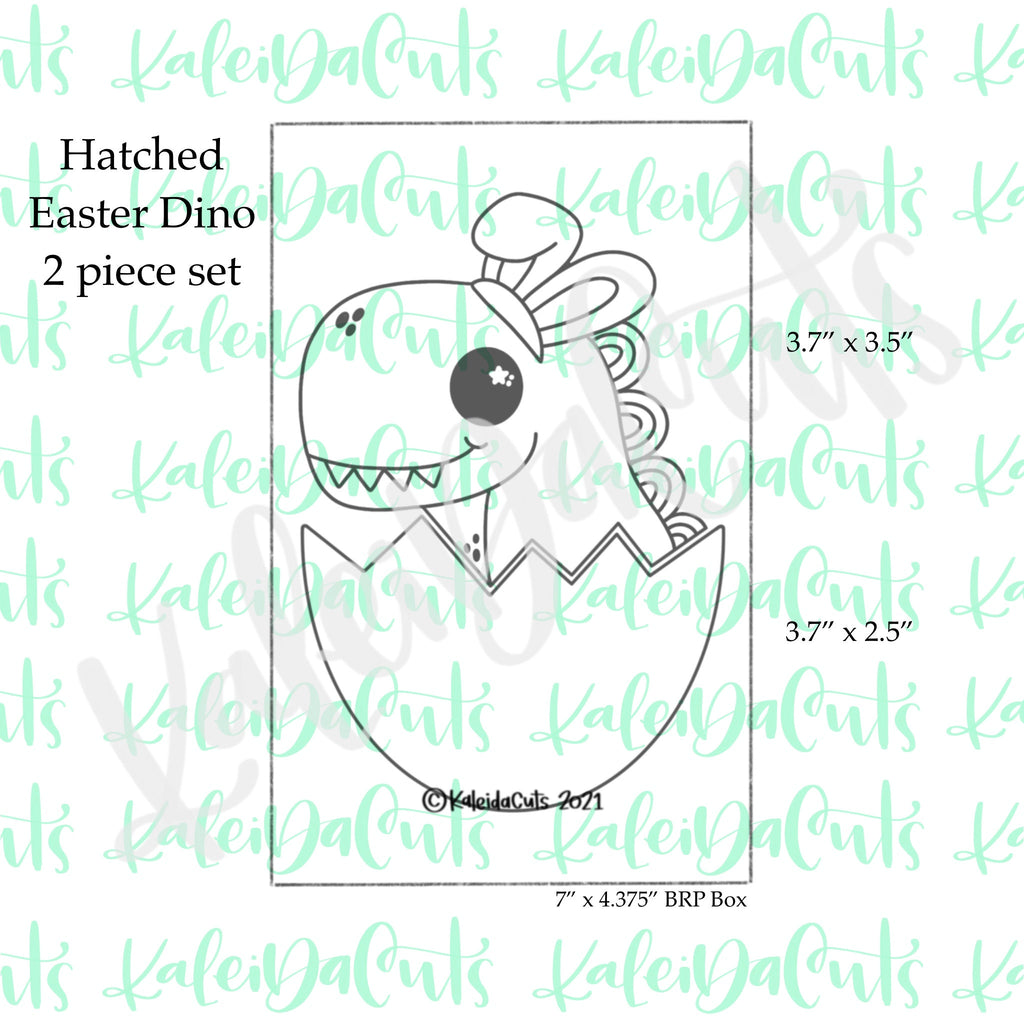 Hatched Dino Set Cookie Cutter