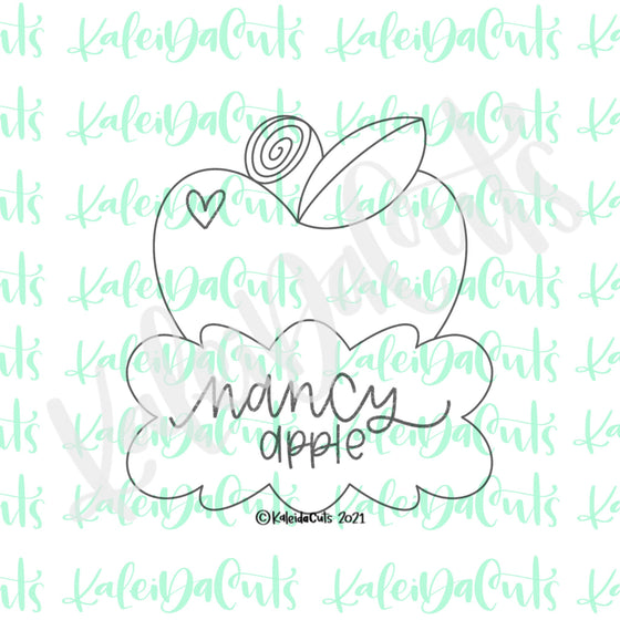 Nancy Apple Plaque Cookie Cutter