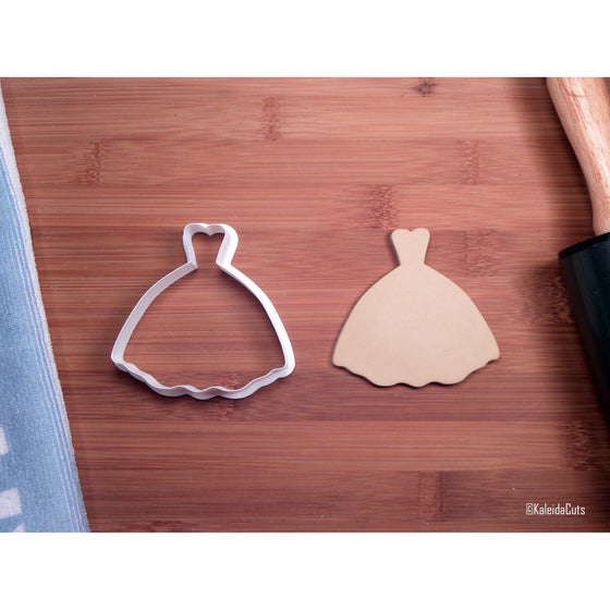Princess Wedding Dress Cookie Cutter