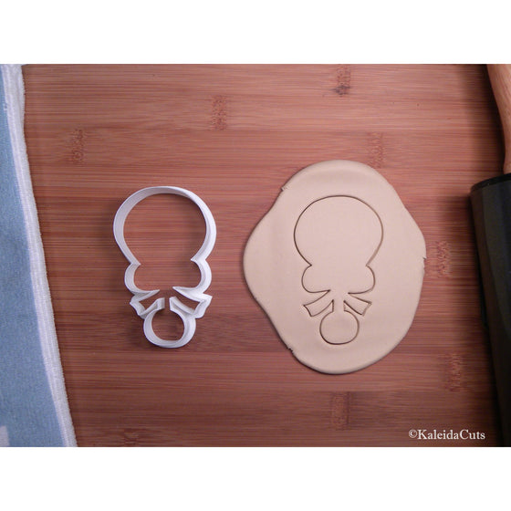Baby Rattle with Bow Cookie Cutter