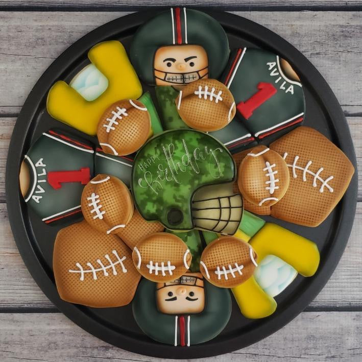 Football Platter Cookie Cutter Set