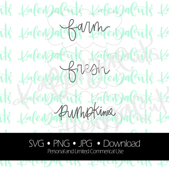 Farm Fresh Pumpkins Lettering. Digital Download. SVG.