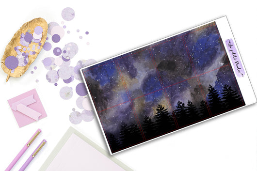 8 Starry Night Backgrounds - S013